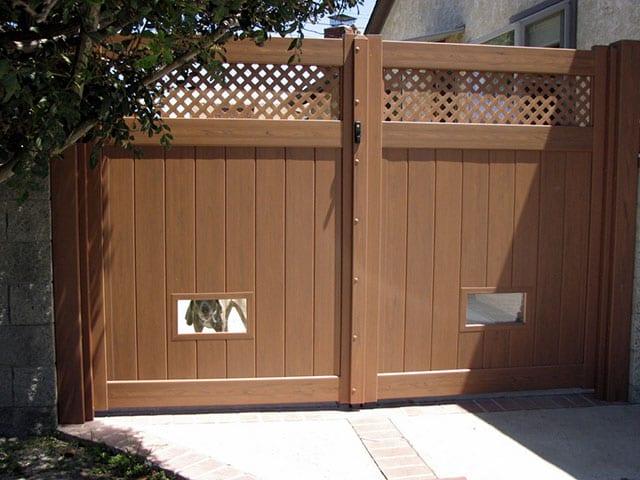 dog fence windows